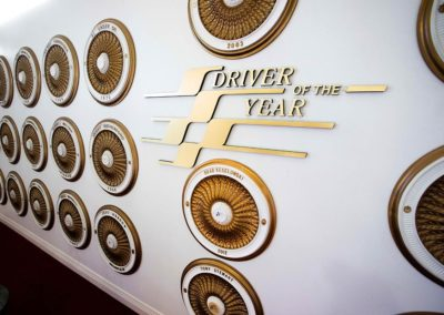 International Motorsports Hall of Fame Driver of the Year Wall